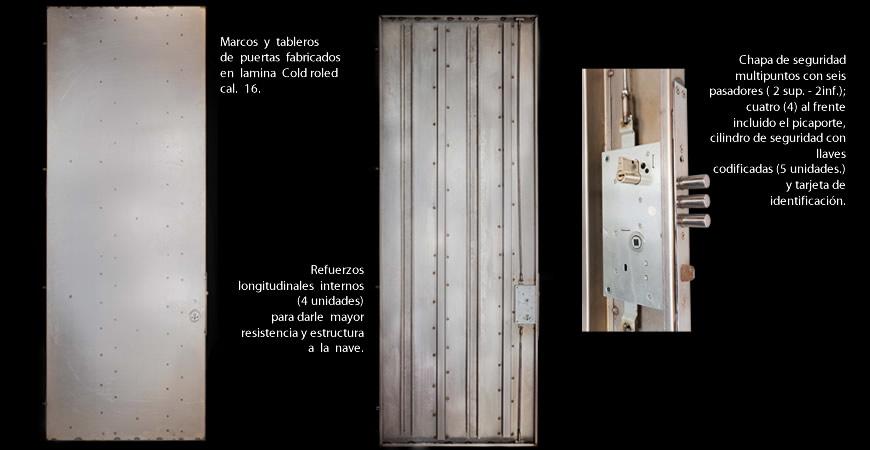 Puertas de seguridad Blindadas en lámina y enchapadas en madera
